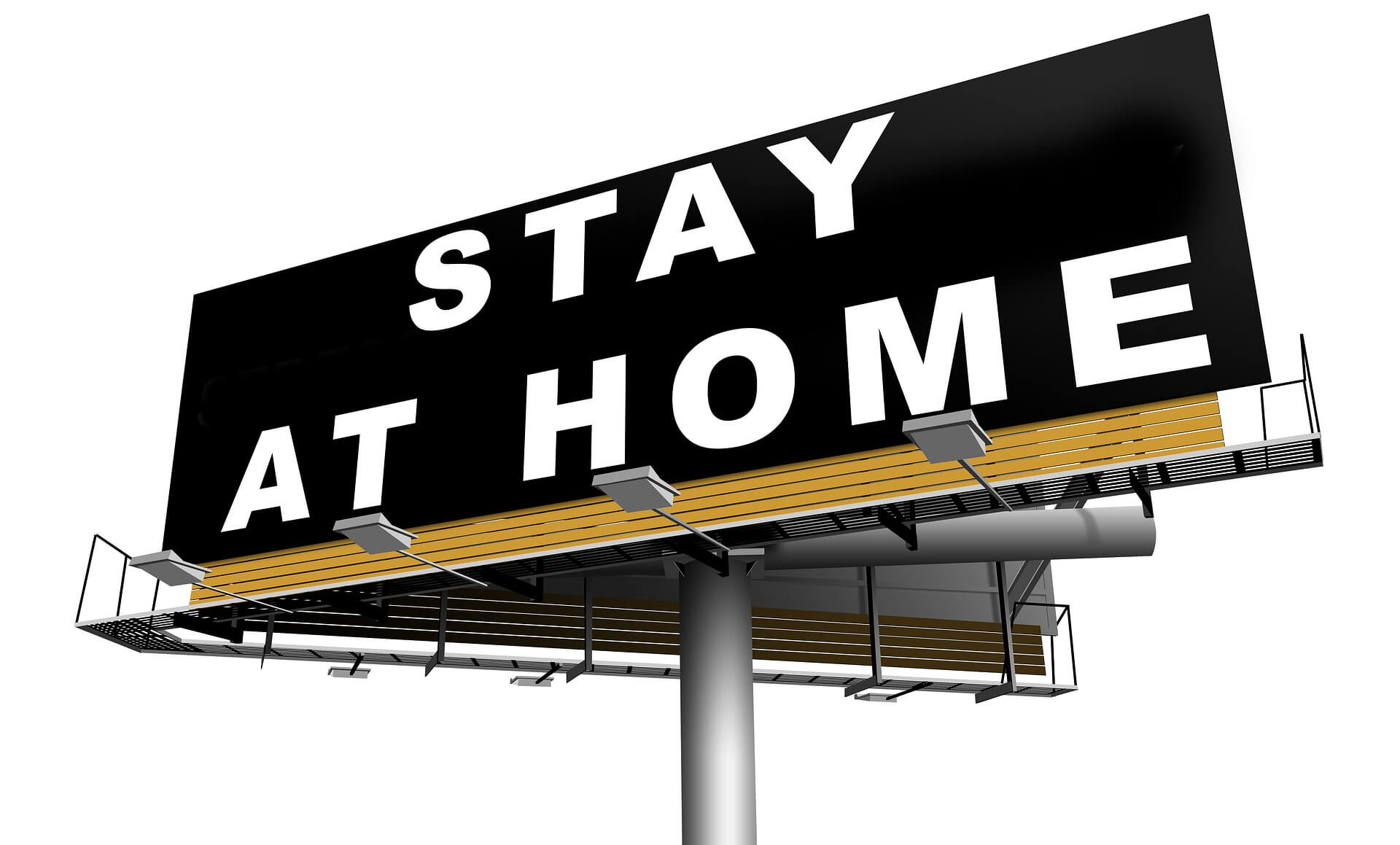 Stay at home sign