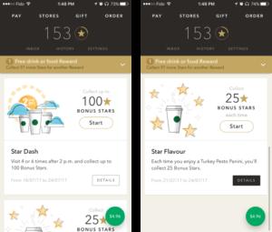 Starbucks mobile app screenshots