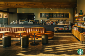 Inside a Starbucks store